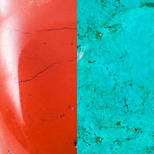Coral y Turquesa